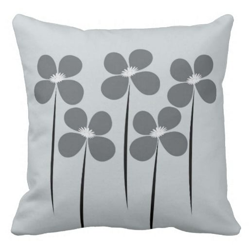 Cute Abstract Night Flowers Pillow Cushions