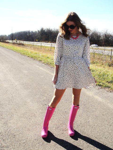 I love my girlie pink Wellingtons