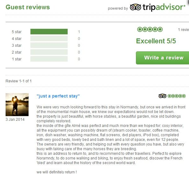 Our first review of the year from our lovely guests from Belgium who saw the New Year in at gite Almé.