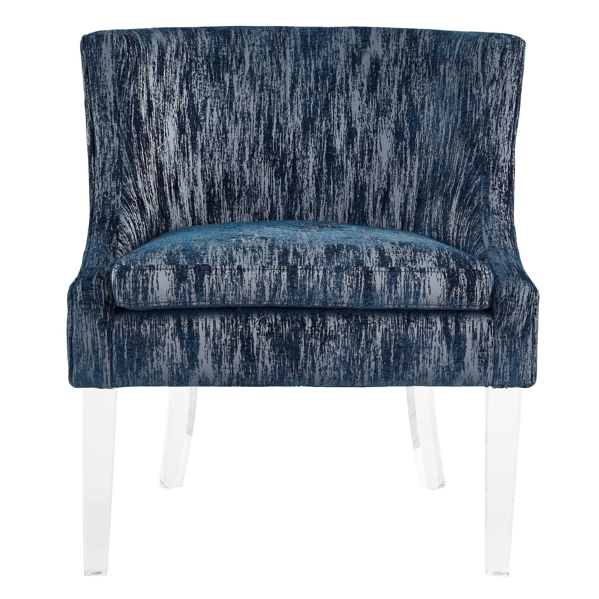 33600 myra blue textured velvet chair blue velvet