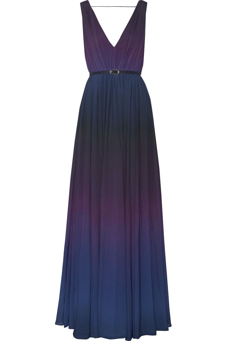 Shop on-sale Raoul Sarina pleated dégradé chiffon gown. Browse other  discount designer Dresses