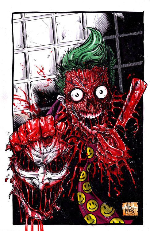 Face Off Joker byKen Haeser