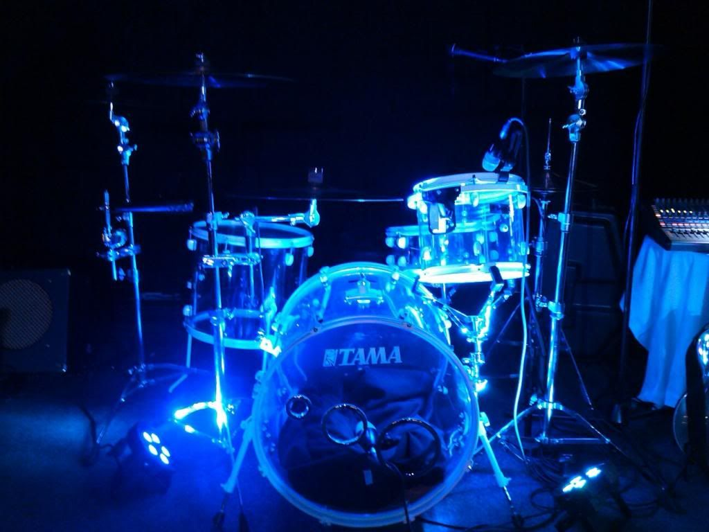 Acrylic drum kit