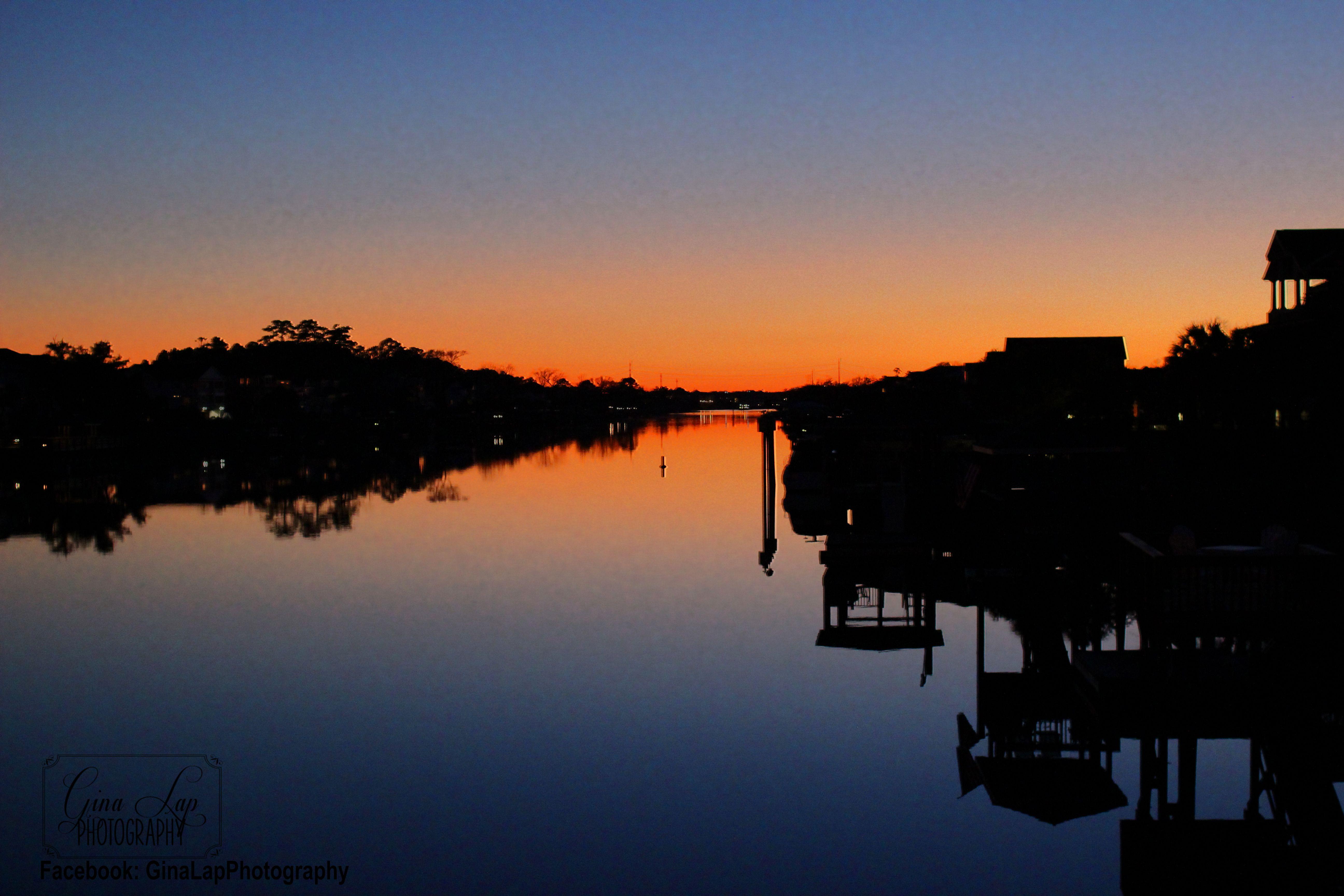 Intracoastal waterway sunset sc wwwginalapphotography