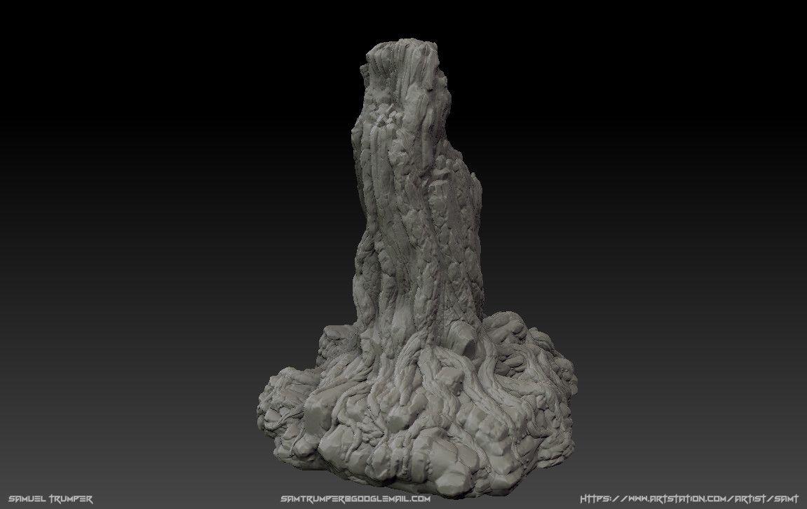 ArtStation - 나무 그루터기, Sam Trumper