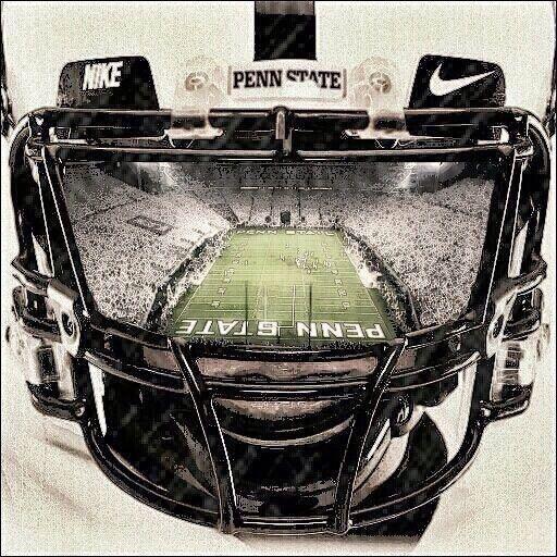 Penn State Football Through A Penn State Helmet Penn State Football Penn State Nittany Lions Football Penn State