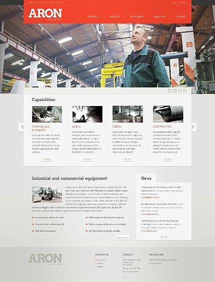 Industrial Website Template 38973 Web Design Clean Web Design Web Design Gallery