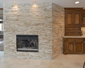 Stacked Rock Fireplace dry stack rock fireplace | dry-stacked stone fireplace design