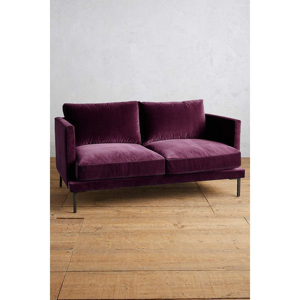 velvet linde settee cad liked on polyvore featuring home furniture