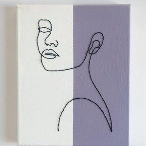 Feminine Figure Embroidered Canvas (8