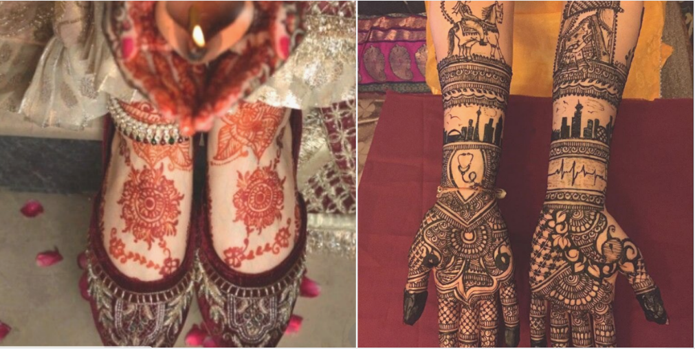 With unique mehandi design, the elegance of bridal look can be doubled. Here is a list of modern mehandi designs for brides to have in 2019. #mehandidesign #heenadesign #traditionalmehandi