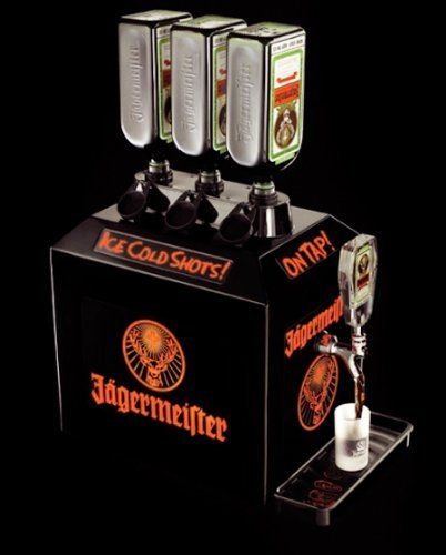 Jägermeister 3 Bottle Tap Machine The Jägermeister 3 Bottle Tap Machine Is Perfect For Serving Up Ice Cold Shots At 0 F Bottle Stoppers Bottle Wine And Beer