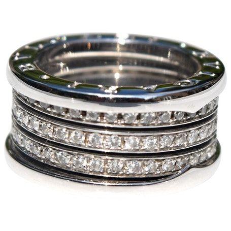 Bulgari Z1 Ring Bulgari Ring Silber Und Weissgold