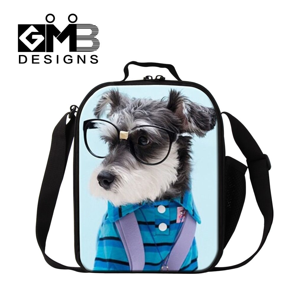 Dispalang cute pets print lunch cooler bags for children