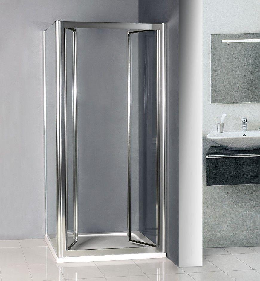 760x760mm double Pivot Shower door Enclosure Inward Space Saving C ...