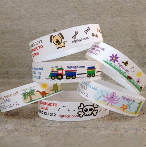 36 Pack Of Kids Id Wristbands Tigtagz 15 Has Pa Contact