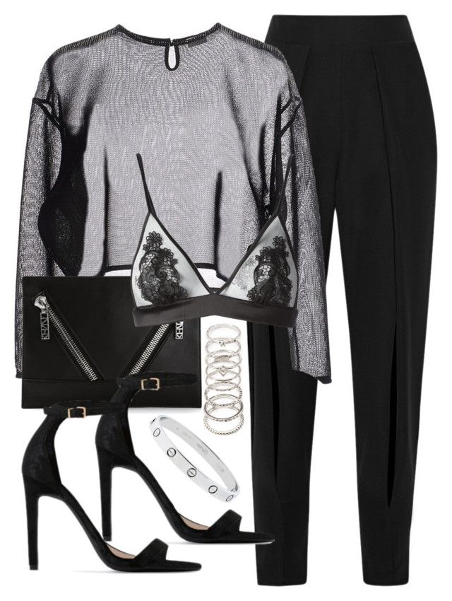 """""""Untitled #5239"""" by angela379 ❤ liked on Polyvore featuring Jonathan Simkhai, Yves Saint Laurent, Kenzo, Fleur of England, Public Desire and Forever 21"""
