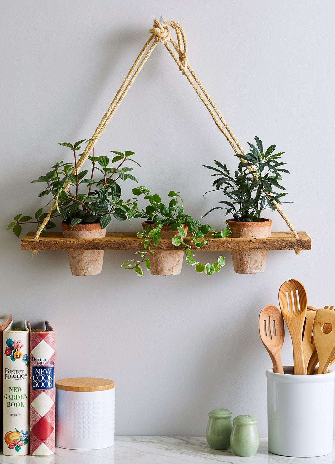 Photo of Make a Hanging Rope Shelf for Your Plants