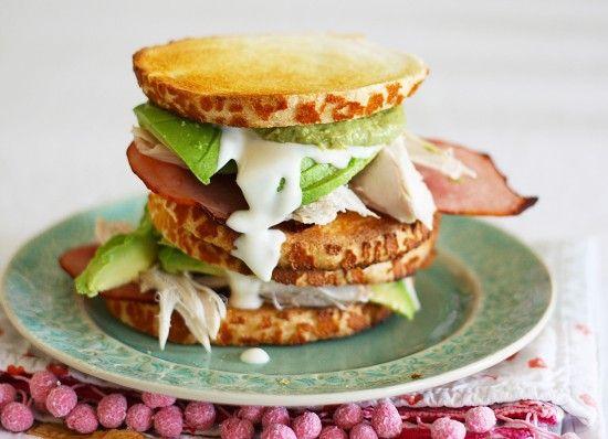Avocado BBQ Chicken Club Sandwich