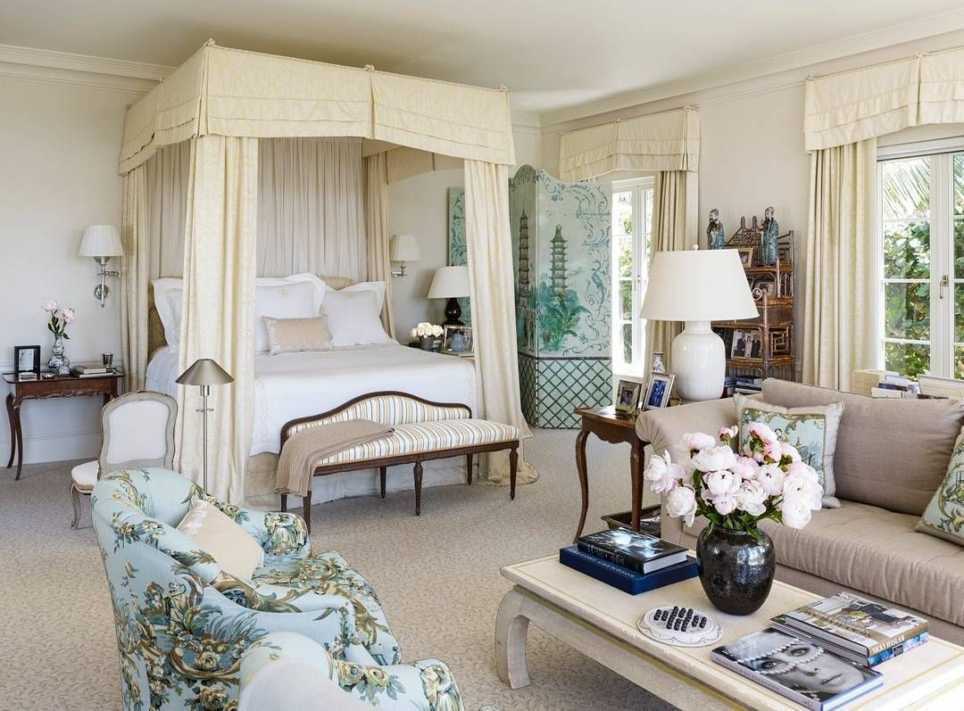 This master bedroom in Palm Beach is the definition of elegance ...
