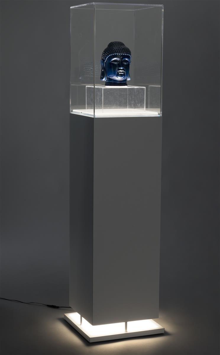 13 Quot Pedestal Display Case Bottom Lit Interior Led Lights