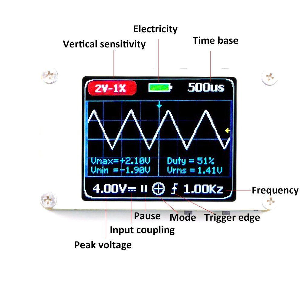 KKMOON Handheld Digital Ultralight 1MHz Bandwidth 5MS/s