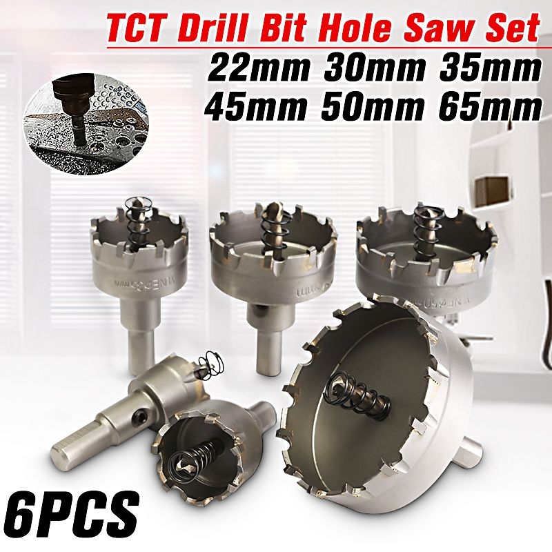 1 PC 30mm Hole Saw Carbide Tip TCT Steel Drill Bits Stainless Steel Metal Alloy
