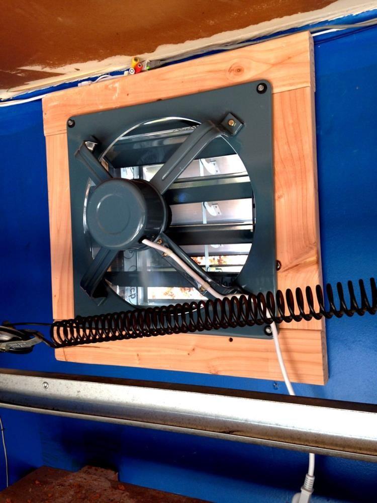 how to install an exhaust fan diy garage ideas diy garage rh pinterest ca
