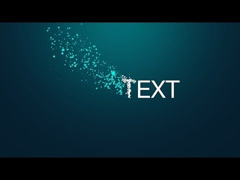 Free Particles Text Animation Template After Effects Youtube
