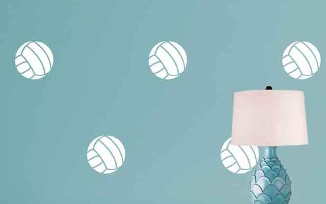 Volleyball Pattern Wall Decal Shop Decals At Dana Decals Wall Patterns Sports Wall Decals Wall Decals