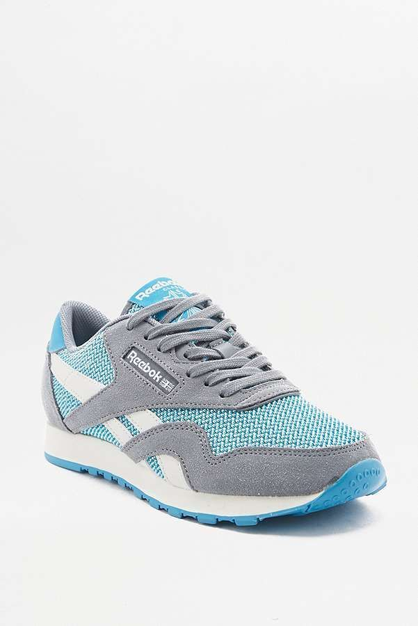 6bec934fd Slide View  1  Reebok Classic Blue Grey Trainers