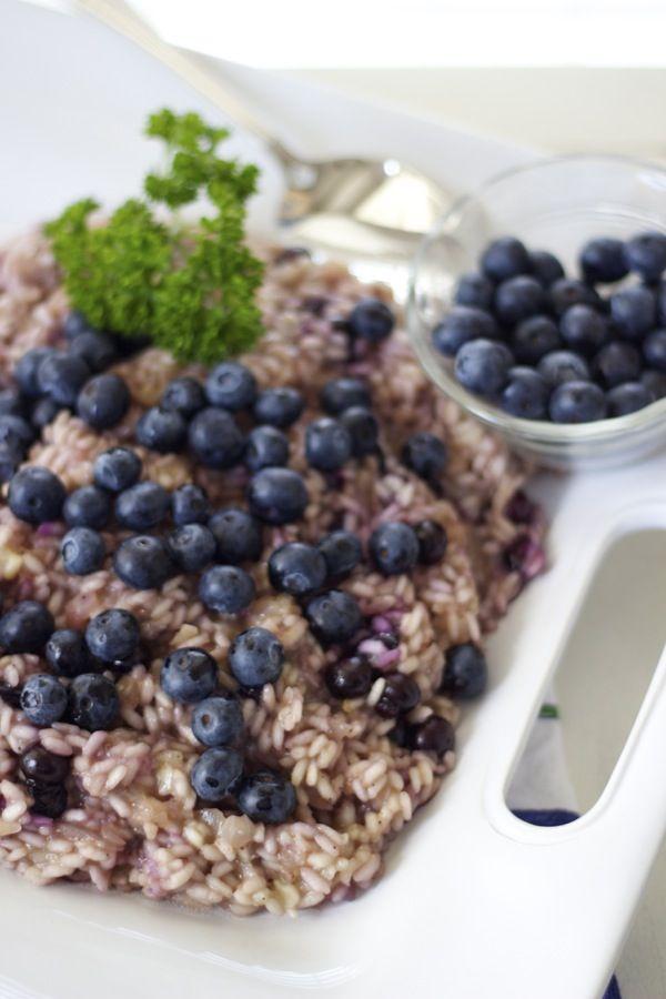 risotto ai mirtilli {blueberry risotto} - pretty, creamy and delicious!