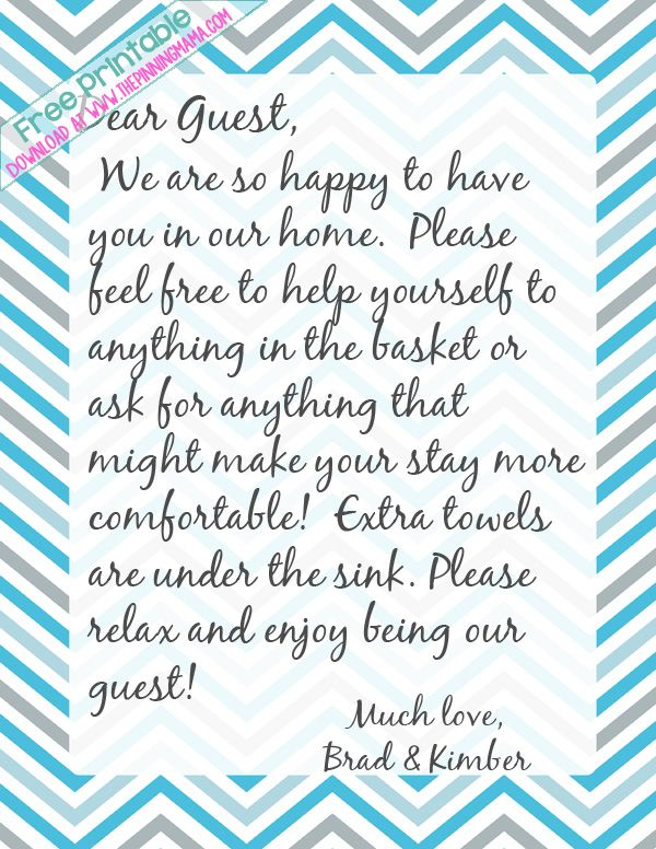 I Always Leave A Handwritten Note For My Guests To Make