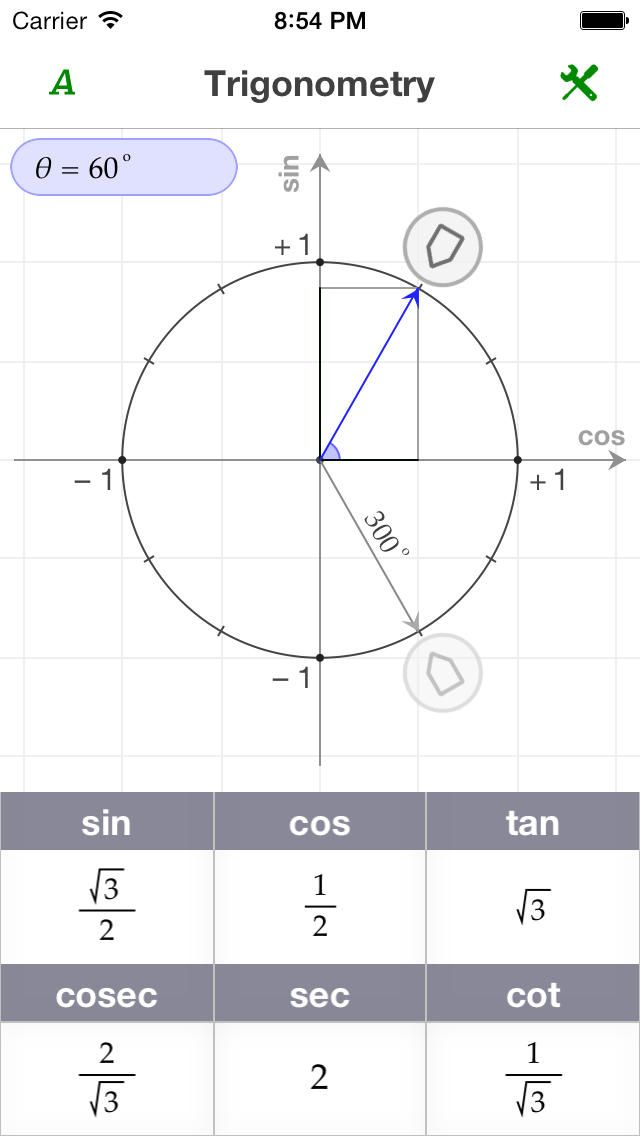 Ezy Trigonometry is a friendly tool designed to help students - unit circle chart