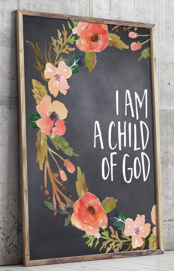 Baptism Gift For Girls Inspirational Quote I Am A Child Of God