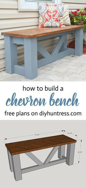 Diy Wooden Chevron Bench Woodworking Bench Wooden Diy Diy Wood Projects