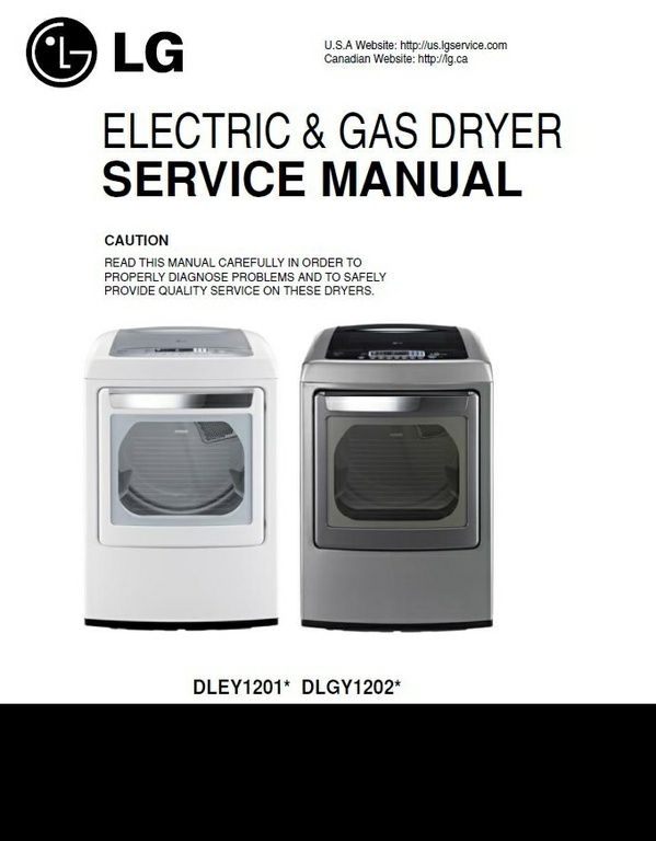 lg dley1201v dlgy1202v dlgy1202w service manual and lg dryer rh pinterest com lg dryer repair manual lg dryer repair manual