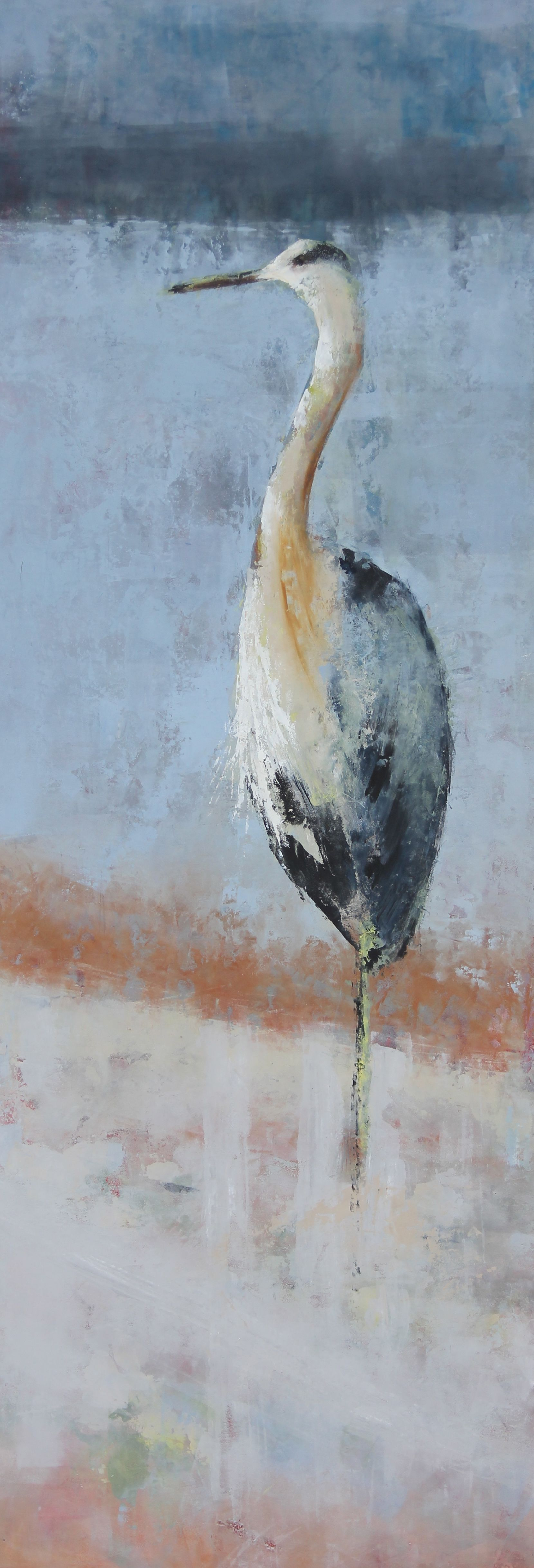 """""""Standing Tall"""" -- an oil and cold wax creation by Lori Drew, clayroadstudio.com"""
