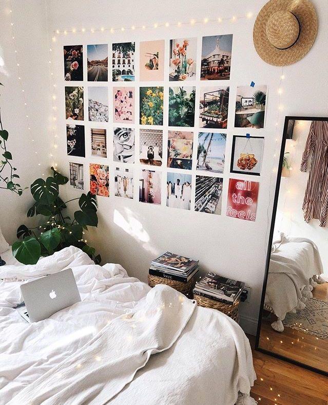 Diy Room Decor Ideas Pinterest: Photo Wall Bedroom💫@cozychloe