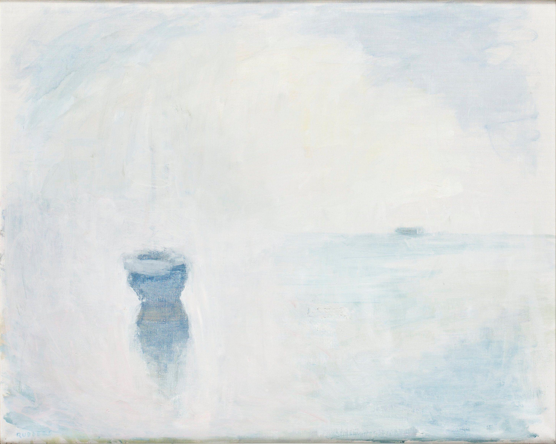 "336. GUSTAV RUDBERG, ""MORGONDIS HVEN"". Signerad Rudberg Duk 76 x 95,5 cm."