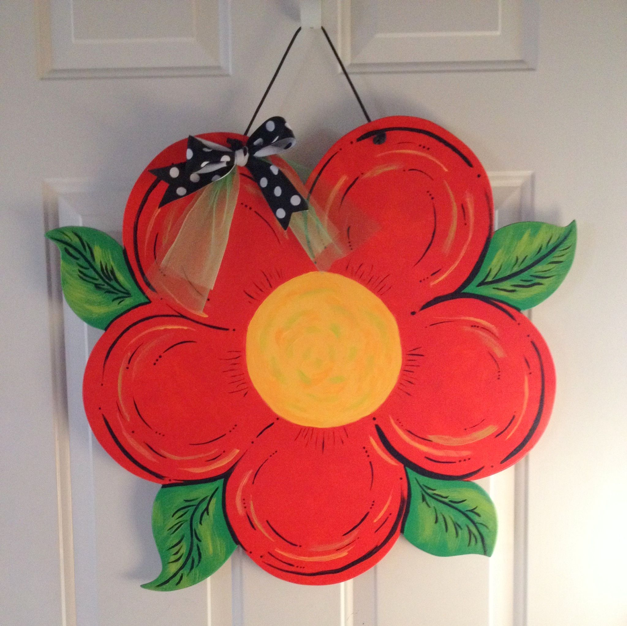 Spring Door Hangers Burlap