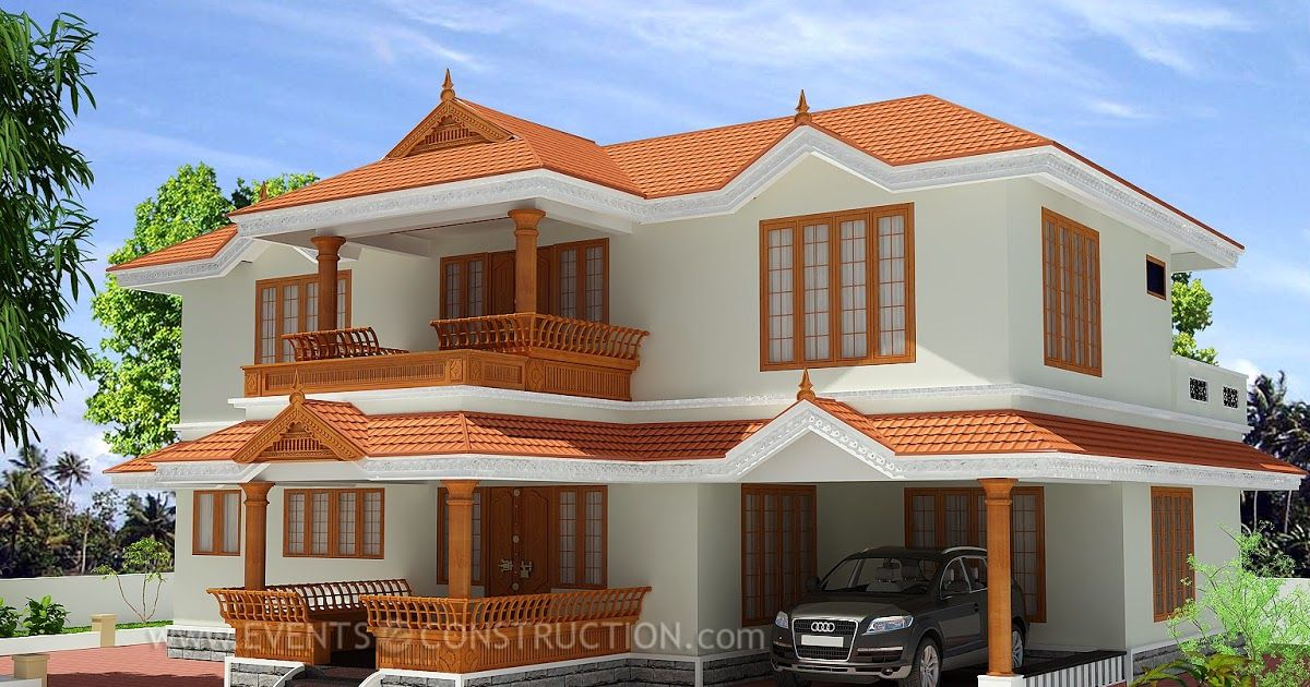2346 Sq Ft X2f 217 Sq M Kerala Traditional Home Style Traditional Number Of Floors Tw Small Modern House Plans Village House Design Kerala House Design