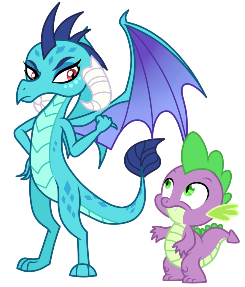 spike and princess ember by mixiepie on deviantart dragon lord