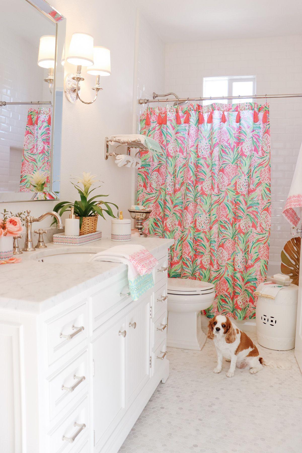 Palm Beach Inspired Guest Bath Restoration Hardware