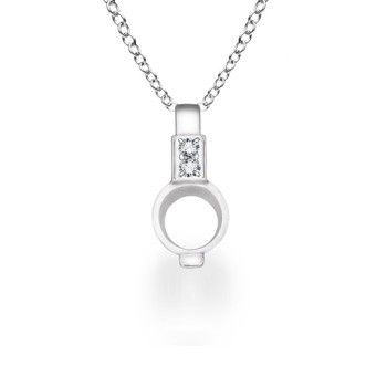 Angara Diamond Pendant in White Gold pueeyOgTId