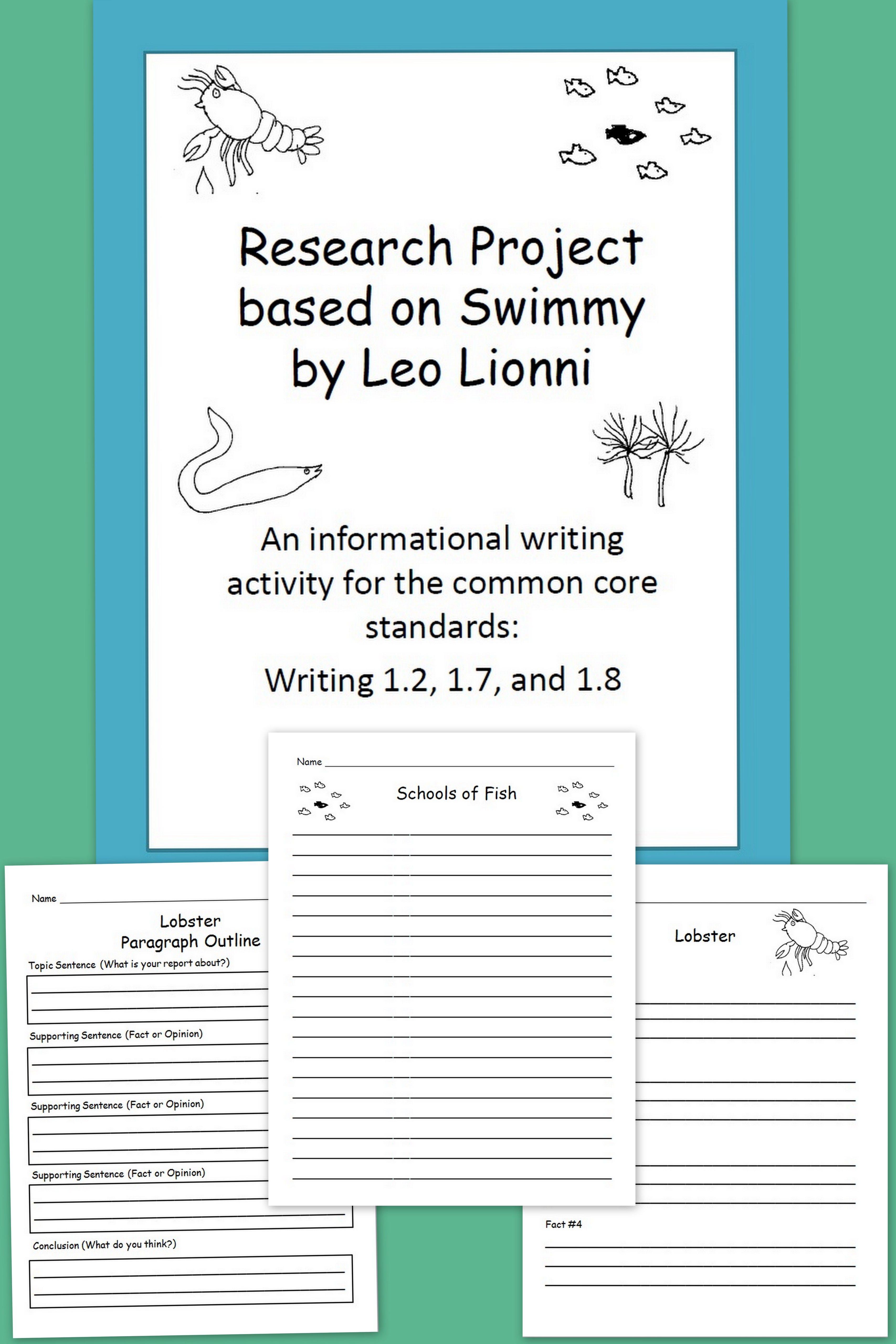 retell literacy center activity – Swimmy