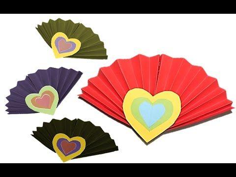 فكرة عمل فني لرياض الاطفال والصفوف الاولية مروحة الجزء 17 Hand Art Art Fan