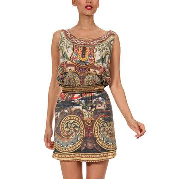 Printed Dress Gold, $79, now featured on Fab.