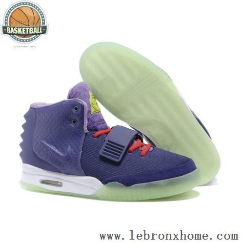 Mens Red Nike Shoes 2013 Air Yeezy 2 Cheap Sale Purple