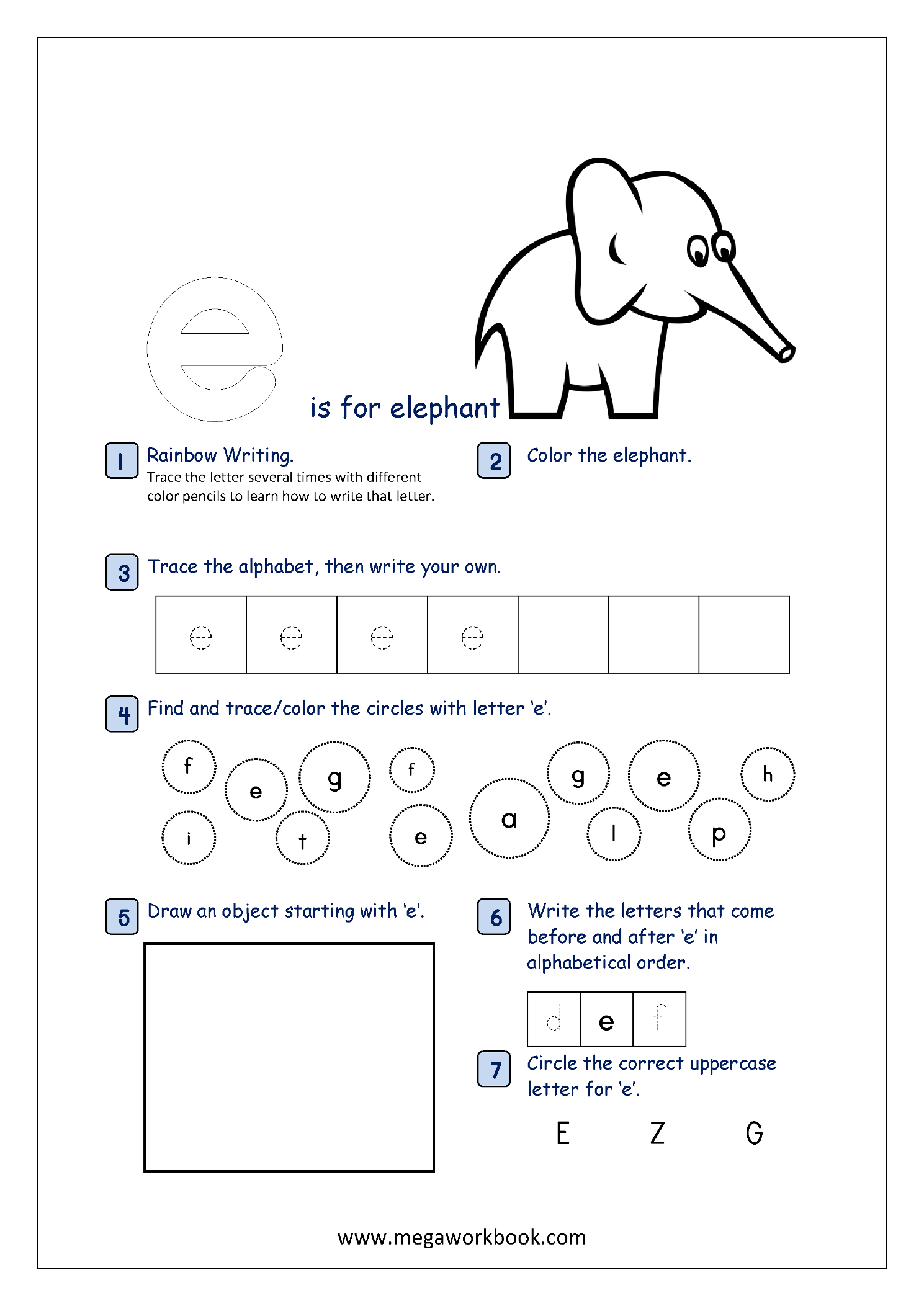 Alphabet Recognition Activity Worksheets For Lowercase